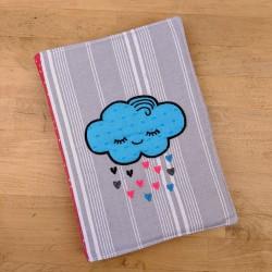 Joli protège cahier carnet santé casse-bonbons nuage poétique toile matelas cadeau naissance fille garçon original paillette