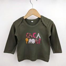 "Tee-shirt ""Cacaprout"" kaki"