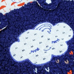 Barboteuse broderie nuage