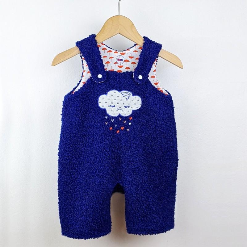 Barboteuse bébé chaude polaire made in france créateur mignonne