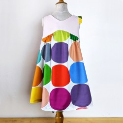 Robe Fille filette créateur dos nu été artisanale originale