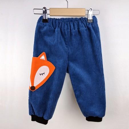 pantalon bébé original poche renard fabrication française
